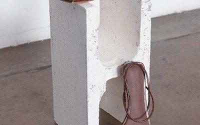 ST AGNI Pina croc-effect leather slingback sandals